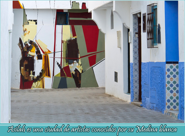 Asilah is a City of artists known for its while medina