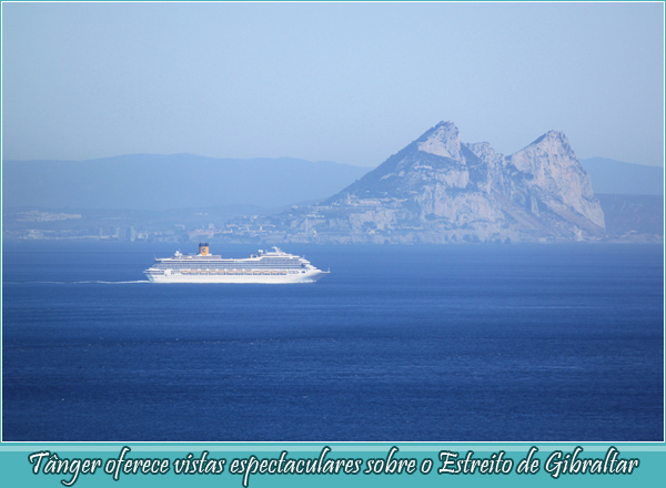 Tangier offers spectacular views over the Straits of Gibraltar